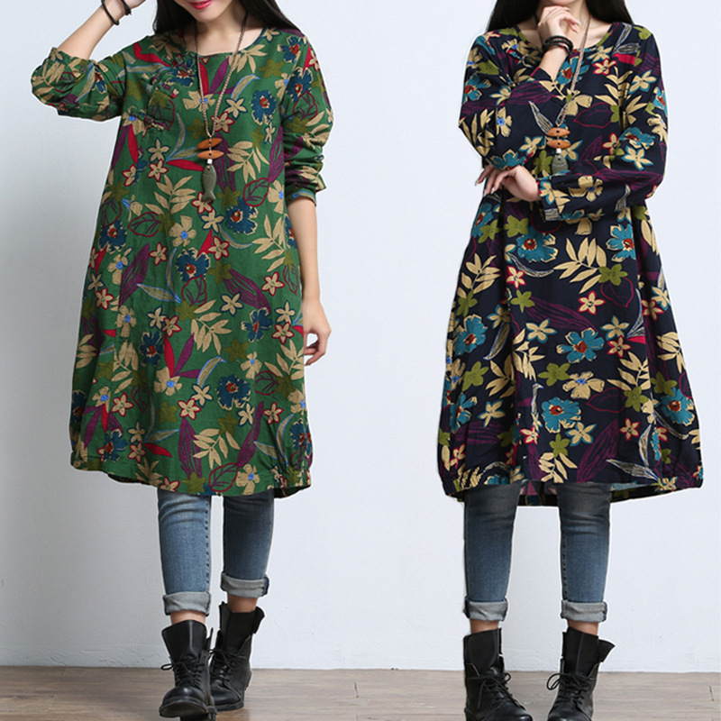 Maternity Clothes For Pregnant Dress Spring Autumn Fashion Long Sleeve Linen Printed Maternity Dress For Pregnancy Clothing W11 fashion cotton padded maternity shirts autumn winter fashion thick knitted long sleeve pregnancy tops loose maternity clothes