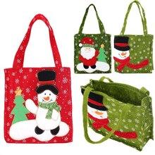 שנה החדשה חג המולד מתנות סנטה קלאוס איש שלג ממתקי שקיות שדינו תלייה פאוץ תיק החג שמח אחסון חבילה מיכל ארגונית