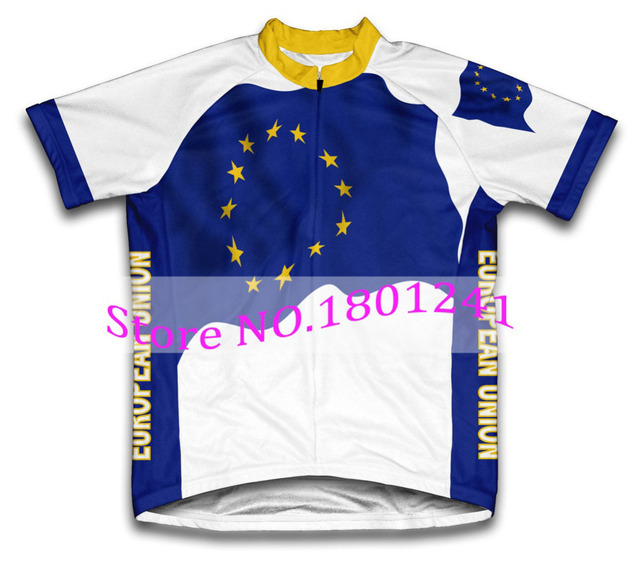 04202767c HOT Tour Europe 2017 cycling jersey Flag EU pro team clothing bike wear  riding cloth racing ropa ciclismo men nowgonow Polyester