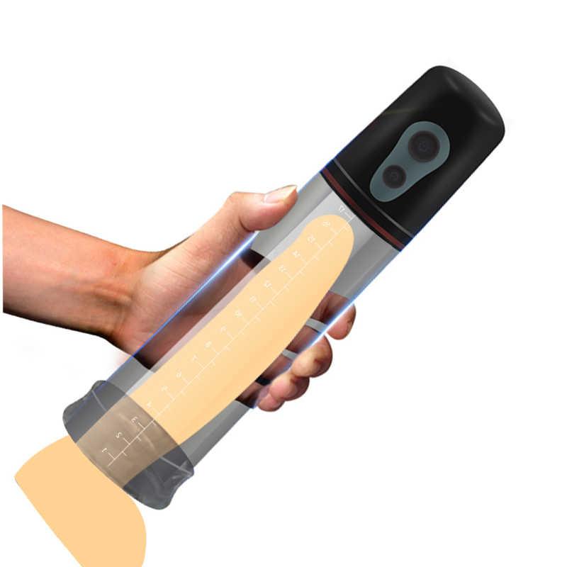 Otomatis Pembesaran Penis Vibrator untuk Pria Electric Pompa Penis, Pria Ereksi Penis Pelatihan Penis Memperpanjang Sex Toys Shop