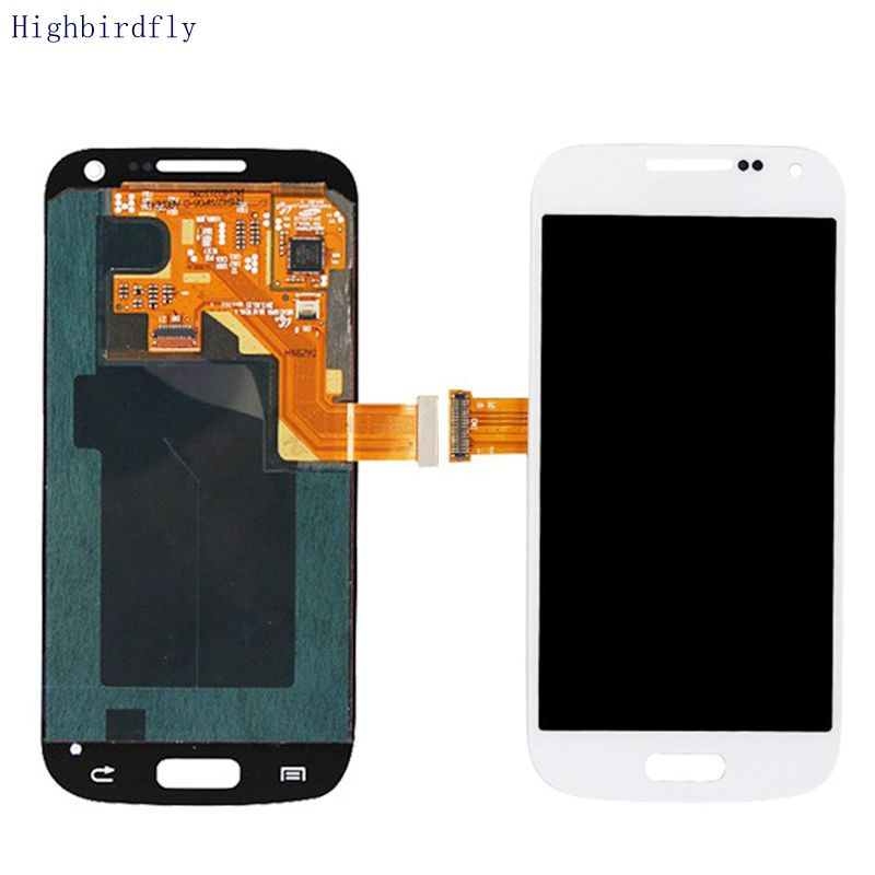 Highbirdfly For Samsung Galaxy S4 Mini I9195 I9192 i9190 Lcd Screen Display +Touch Glass Digitizer Assembly Amoled