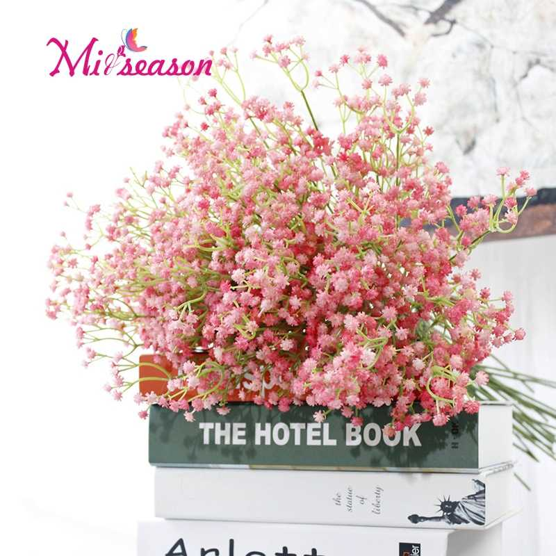 1pcs Rustic artificial flower interspersion mantianxing decoration flower plastic baby's breath flower for wedding home decor