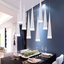 Simple led Pendant Lights AC85-265V 5W Modern led Conical Pendant Lamps Aluminum Hand Lighting dining-room bar Restaurant Lamp