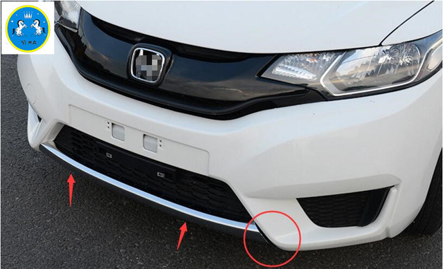 Accessories For Honda Fit Jazz 2014 2015 2016 Abs Front Fog Side Bumper Protection Cover Trim In