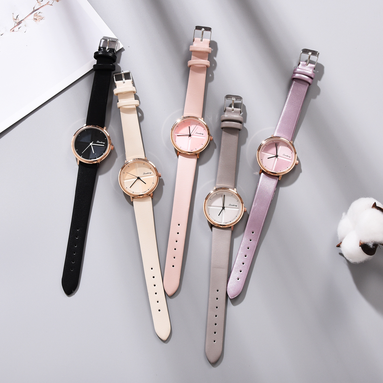 2019 Exquisite Minimalist Style Ladies Watch Fashion Quartz Ladies Watch Elegant Girl Watch Buckle Limited Edition Coated Glass in Women 39 s Watches from Watches