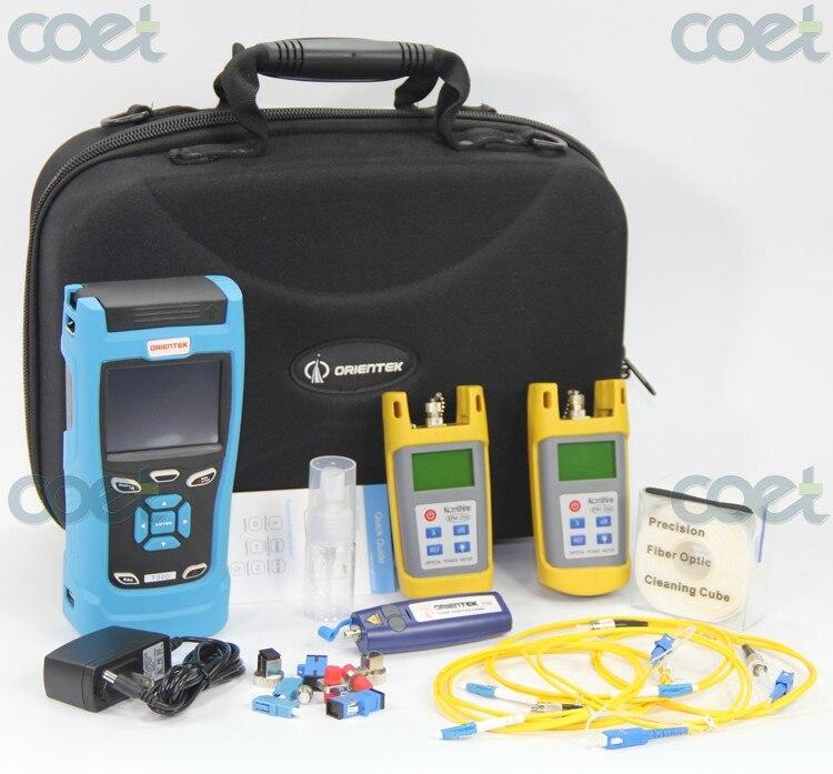 free shipping Orientek TQX 40 Fiber Optic Tool kit with T303 SM OTDR Optical Power Meter Light Source & Visual Fault Locator