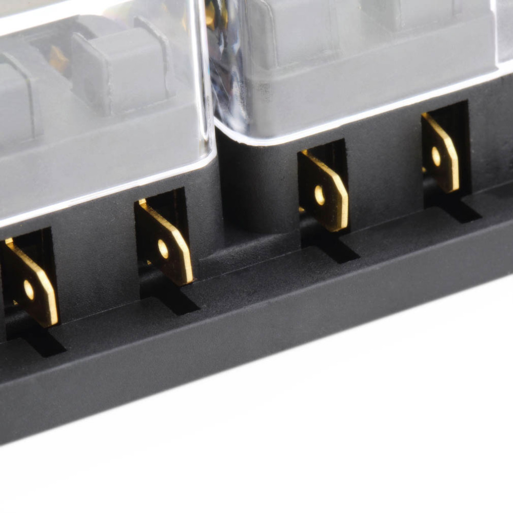 Universal 8 Way Auto Car Fuse Box Block Holder Vehicle Max Voltage 250v Temperature Range 20 To 150 Automotive Suitable For Middle Sized Blade Fuses Enable Hold Use