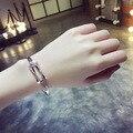 Fashion street style fashion crystal sweet brief accessories geometry cross bracelet jewelry bracelet Gold-plated silver