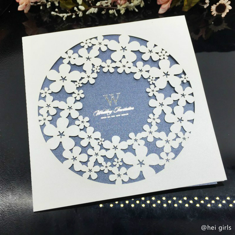 Wedding Invitations Business: 30pcs/lot 15*15cm Hollow Wedding Invitations Exquisite