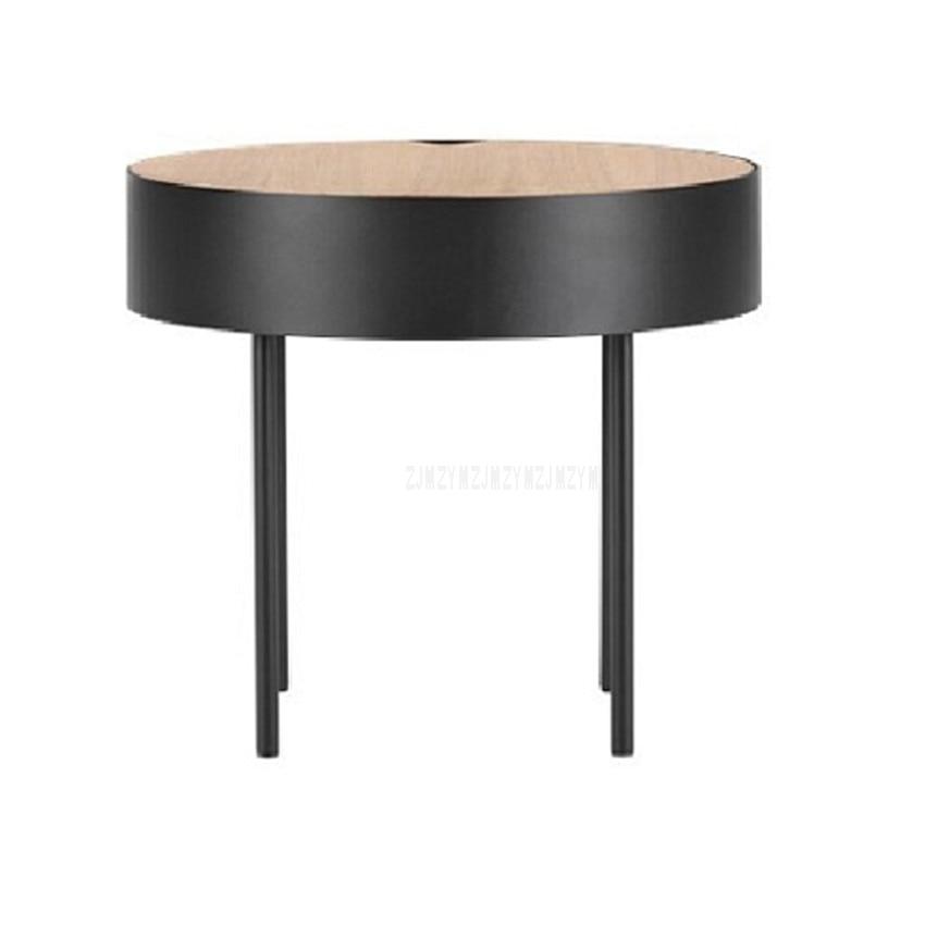цена на European Style Modern Round Tea Coffee Table Simplicity Creative Living Room Bedroom Corner Small Round Sofa Side Table 50cm