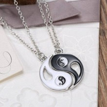 New Chinese Mystical Yin Yang Pendant Necklace Stainless Steel Necklaces Couple Necklace NL0047