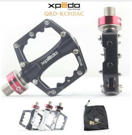 Wellgo Xpedo KCF01AC Ultralight Bicycle Pedals Quick Release Cycling Aluminum Alloy Road Bike Pedals Mountain Bike Bearing Pedal wellgo wm001 mtb mountain bike clipless pedals cycling aluminum alloy high quality road bicycle pedal