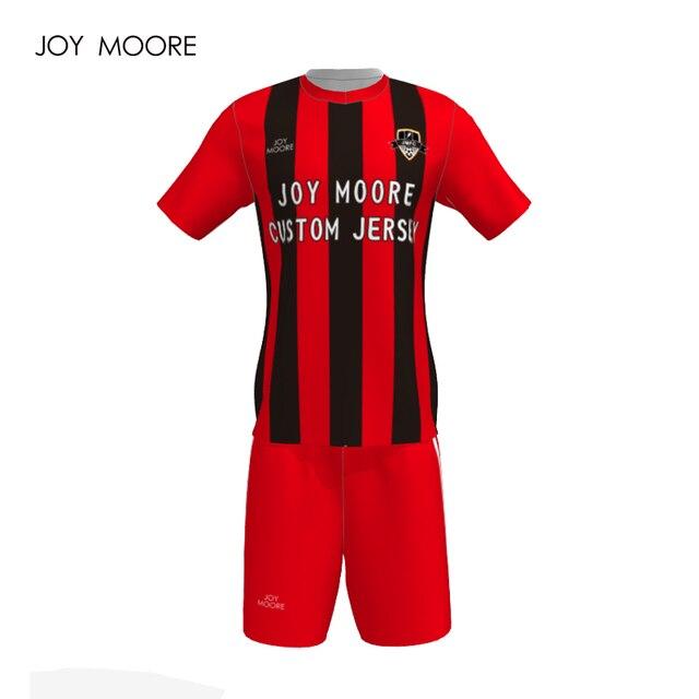 Profissional Personalizar Adulto Respirável Conjunto De Futebol 2018 Camisas  De Futebol Uniformes Homens Kit Camisa de 3139bc300c759