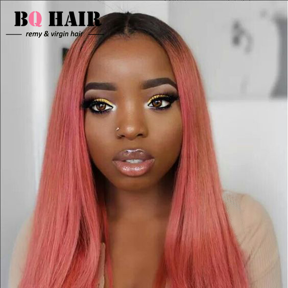 BQHAIR 8A Two Tone Rose Gold Ombre Straight Hair 3 Bundles