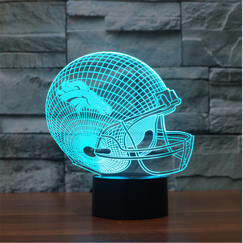 NFL Team LOGO Table Lamp Touch 7 Colors Changing Denver Broncos/Minnesota Vikings/New York Jets Sleep Light Acrylic USB 3D LED консилер absolute new york radiant cover 04 цвет 04 light medium neutral variant hex name b68161