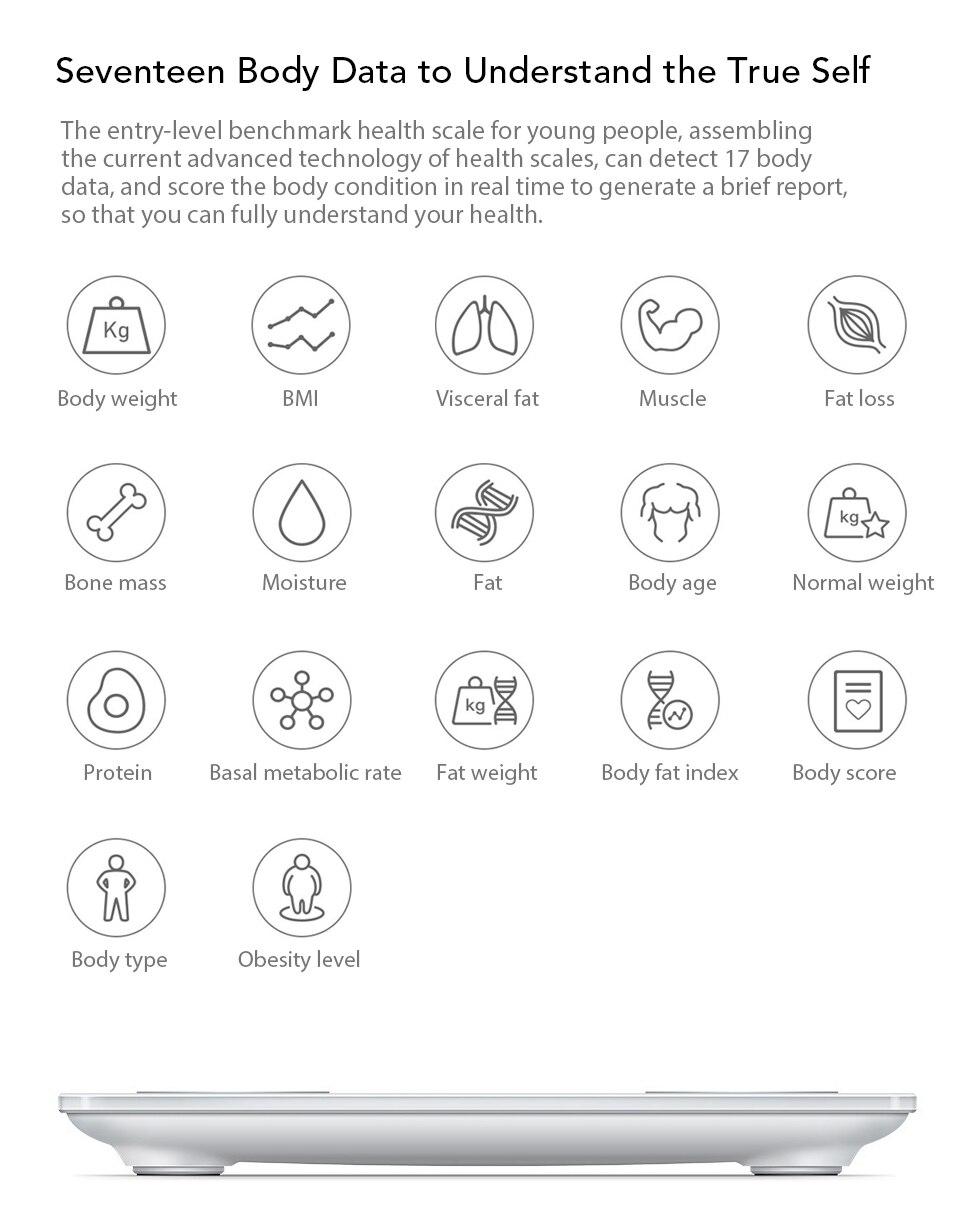Xiaomi YUNMAI Fat Scale Mini 2 Balance Smart Body Fat Scale Smart Data Analysis APP Control Digital Weighing Tool Xiomi Xaomi (3)