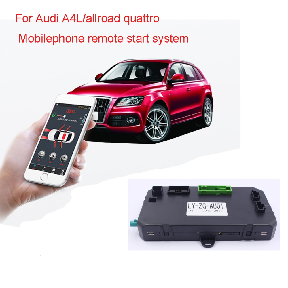 For Audi A4 Q5/A4L Q5L GSM Mobilephone APP Control Car Engine Ignition Start Stop System Remote key Control system no wire cut