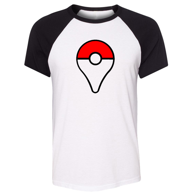 ae54113b720c iDzn Unisex T-shirt Pokemon Go Plus Poke Ball PokeBall Catch Pikachu Art  Pattern Raglan Short Sleeve Men T shirt Casual Tee Tops