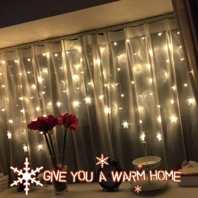 7d9288fe758 Las luces Led parpadeantes Grandes nieve hielo de agua cascada cortina de  luces de cadena de