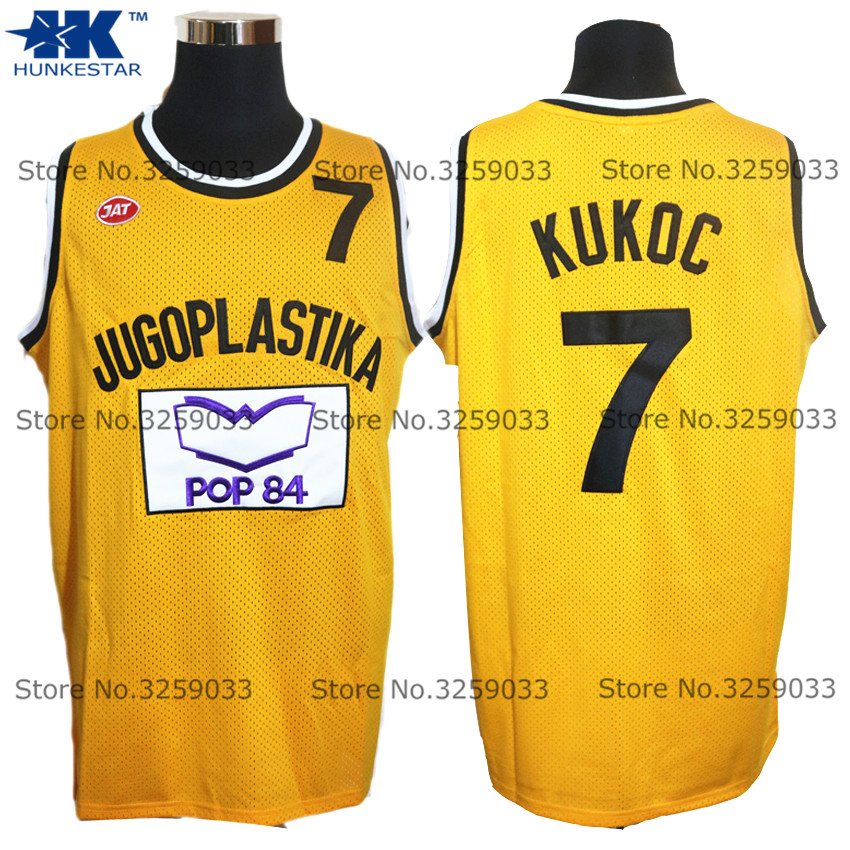 Mens Toni Kukoc Jersey #7 Jugoplastika Yugoslavia Europe Throwback Basketball Jersey MAN Basket Uniforms Stitched Trikots Shirts(China)