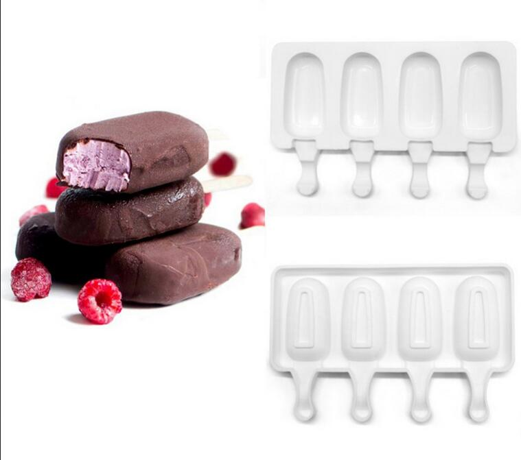 Popsicle Mold mini Oval ice cream silicone mold Ice cream pop Cube Molds Silicone mould homemade popsicle molds