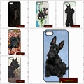 Caso de la cubierta negro scottish terrier puppy dog para iphone 4 4s 5 5s 5c 6 6 s plus samsung galaxy s3 s4 mini s5 s6 note 2 3 4 F0345