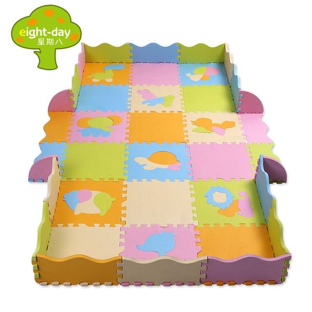 Eva Foam Play Mats Baby Crawling Mat Fence Puzzle Soft Floor Children Interlocking Developing Pad For Kids Gift 453