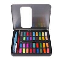 36 цветов твердая Акварельная художественная краска набор краски ing коробка с ручками бумага и сумка художника художественные принадлежнос...