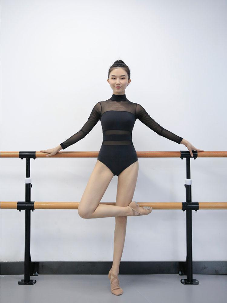 2019 justaucorps de gymnastique à manches longues justaucorps de ballet pour femmes