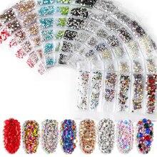 1300 шт многоразмерные кристаллы стеклянные стразы для ногтей 3D украшения для ногтей Стразы амулеты перегородки смешанного размера для ногтей ювелирные изделия