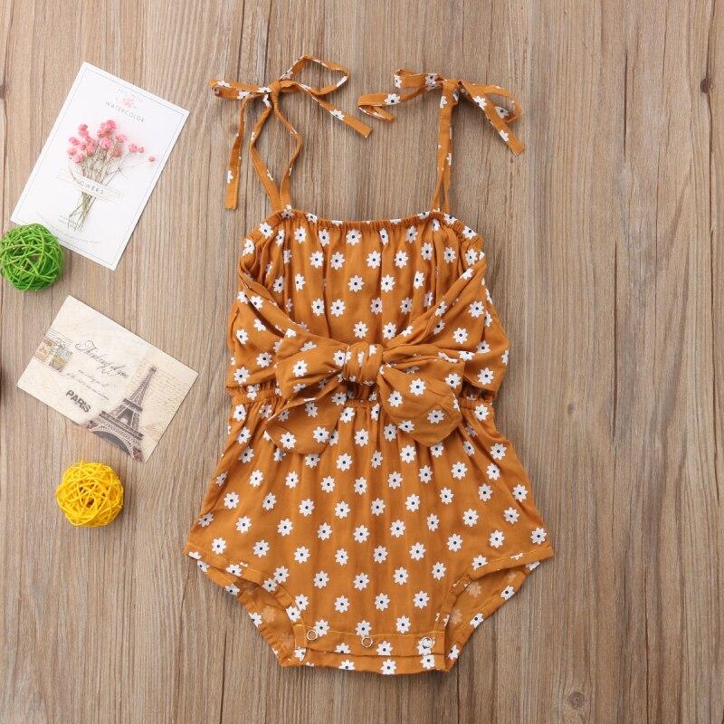 HTB1MrKtwXmWBuNjSspdq6zugXXa4 Newborn Baby Girl Strap Bowknot Floral Romper Polka Dot Jumpsuit Outfits Sunsuit