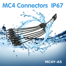 1Pair PowMr Connectors IP67 Waterproof MC4 Male And Female Solar Panel Cable Connector MC4Y-A5
