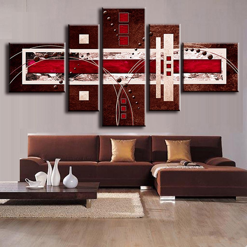 Wall Art Canvas Brown : Aliexpress buy pcs set combined modern abstract