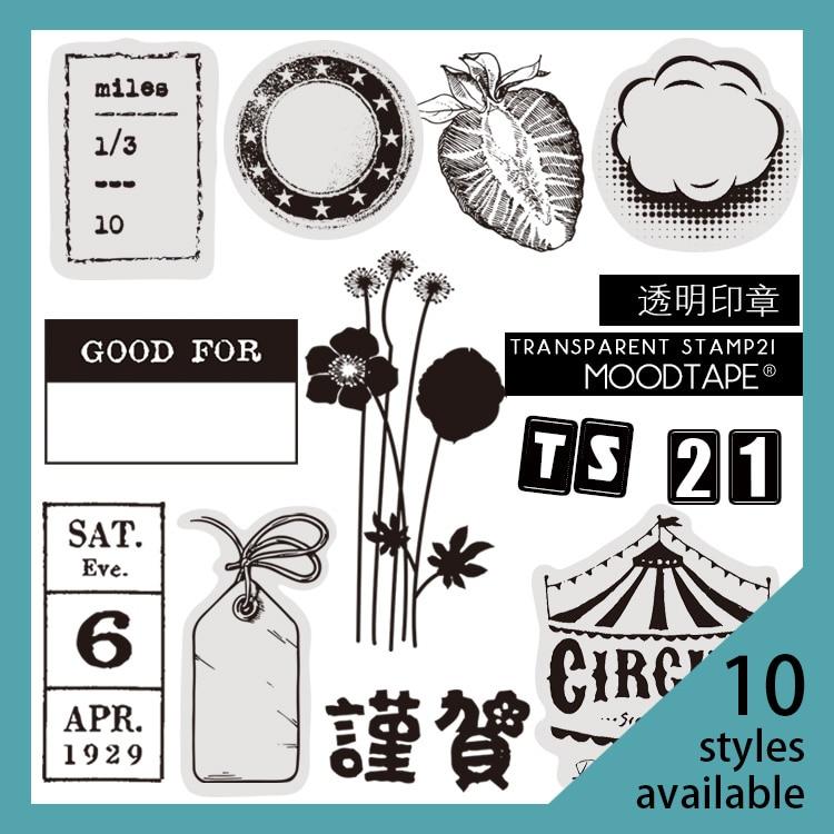 Moodtape Vintage Clear Stamp  For DIY Scrapbooking/photo Album Decorative Transparent Stamp Label Flower Fruit Rubber Stamp Seal