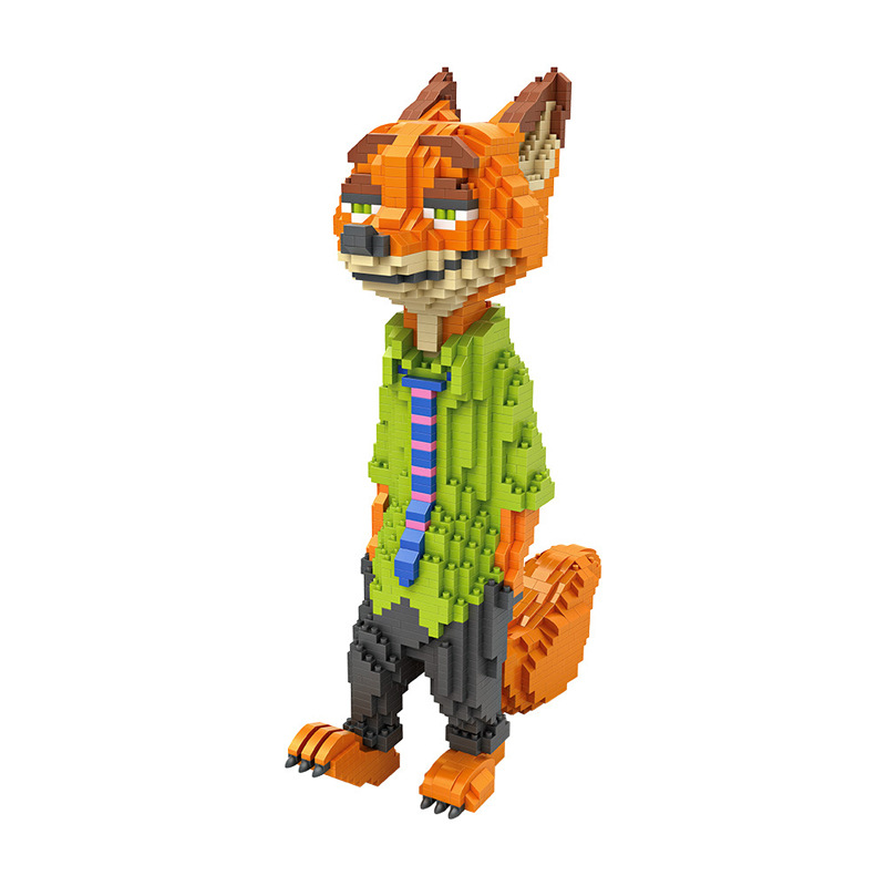 Hot 3D cartoon movie Zootopia LOZ mini diamond building block Nick Fox figures model nanoblock for kids educational toys loz world famous architecture nanoblock daming palace china city mini diamond building block model educational toys for kids
