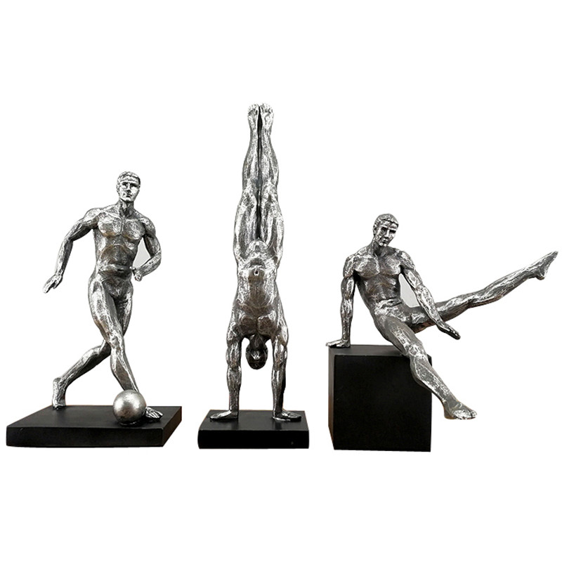 Creative Retro Abstract Men's Gymnastics Figurine Resin Handstand Sculpture Sports Character Home Decoration Ornament Gift R1148