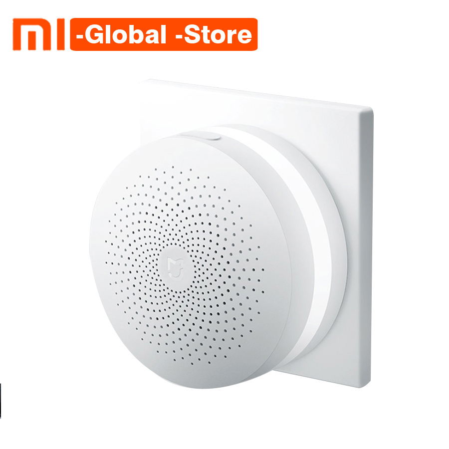Original Xiaomi Smart Home Gateway Multi-functional Upgraded Smart Temperature and Humidity Sensor WiFi Remote Control by Mi APP original xiaomi mi smart temperature and humidity sensor