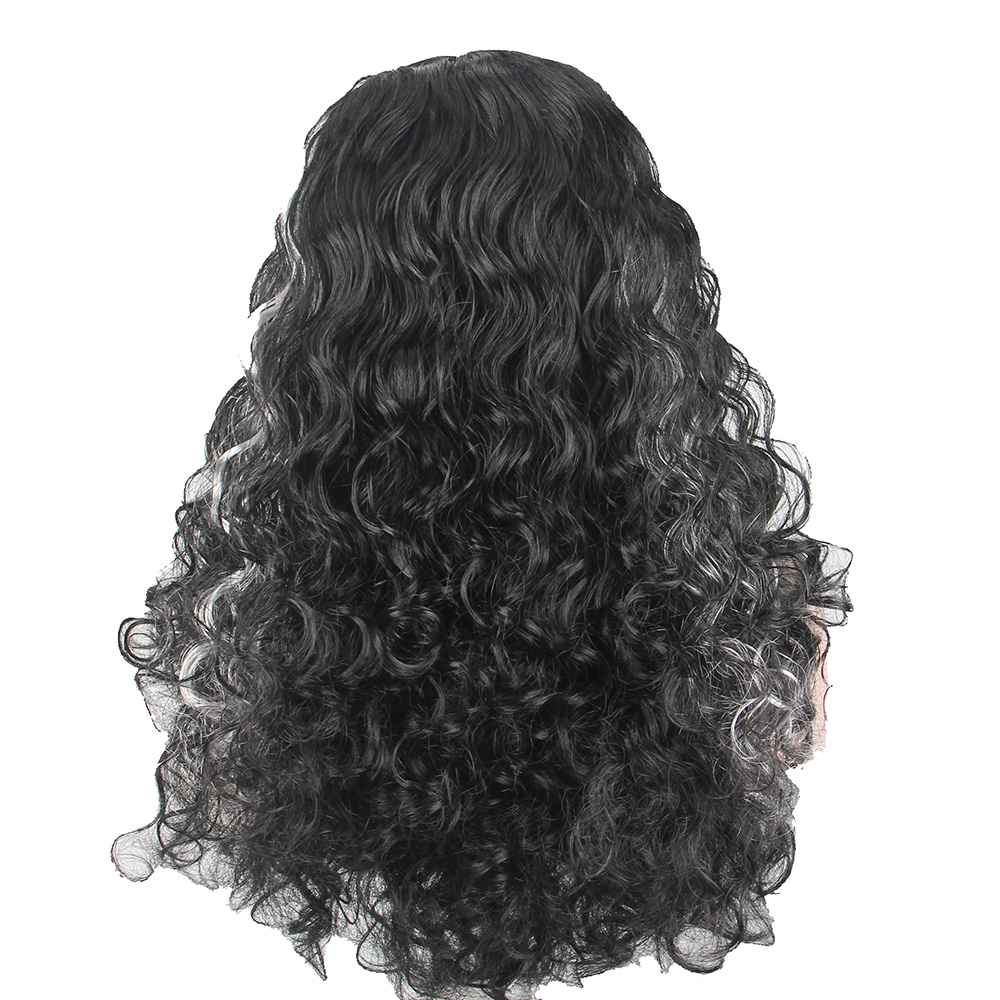 BLACK and White Festival Dress Up Wig ANXIN WIG FACTORY Christmas Halloween Wig