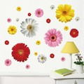2 set Removable PVC Decals 4 Colors DIY Daisy Decorative Flowers Wall Stickers For Art Home Wall Decoration LM613