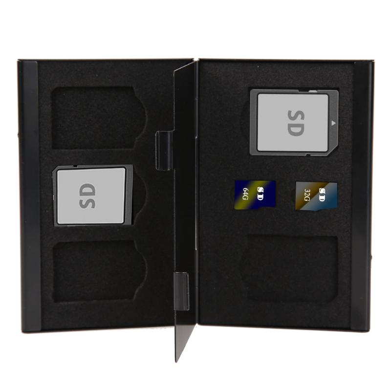 7 In 1 Memory Card Case Portable Deck Aluminium Alloy 2TF + 5SD Memory Cards Storage Holder Box Cases Support Dropshiping