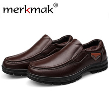 Merkmak Men Shoes 2016 Fashion Casual Brand Genuine Leather Slip On Men Loafers Drinving Flats Sapatos Masculinos Men Footwears
