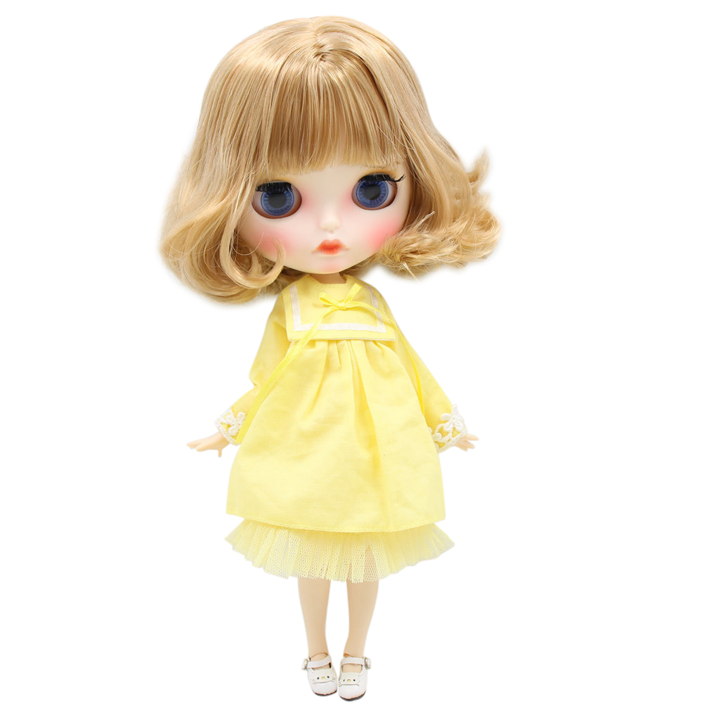 ICY Nude Blyth Doll For No BL2240 3227 Flaxen hair Carved lips Matte face with eyebrows