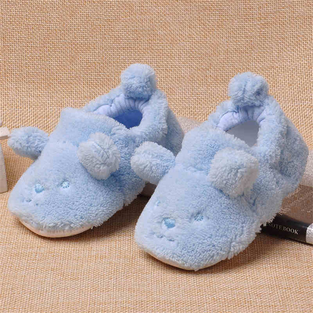 Winter Baby Home Slipper First Walker Shoes Newborns Warm House Slippers Boy Baby Girl Toddler Infantil Newborn Shoes 80A1025