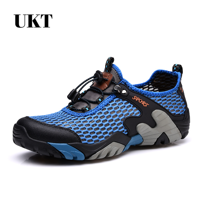 NEW Men Climbing Upstream Hiking Shoe Walking Outdoor Sport Breathable big meshAthletic Shoes-Quick Drying for Summer Large size sale outdoor sport boots hiking shoes for men brand mens the walking boot climbing botas breathable lace up medium b m