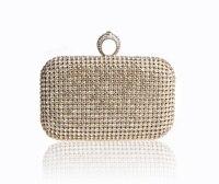 2016 High Quality Gold Ladies Rhinestone Wedding Evening Bag Female Clutch Handbag Bride Party Purse Mini