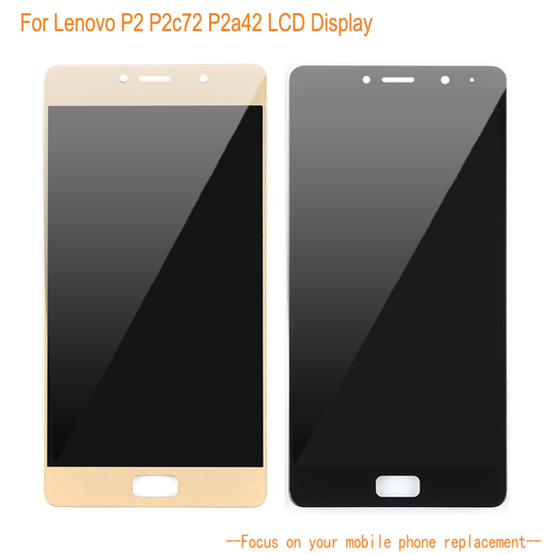 Écran LCD pour Lenovo P2 P2c72 P2a42 téléphone portable écran tactile numériseur assemblée remplacement pour Lenovo écran LCD