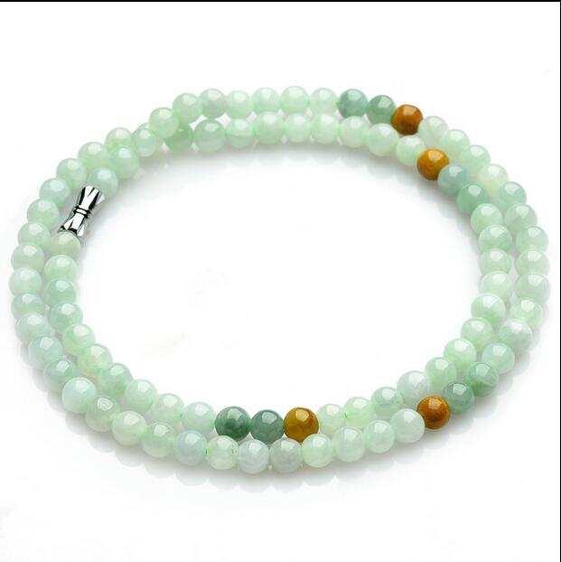 100% naturel un vert émeraude Jade pendentif ~ collier collier Jade