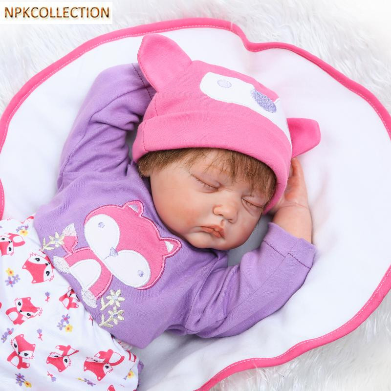 NPKCOLLECTION Reborn Dolls Babies Alive Bonecas Soft Toy 20''/50CM Reborn Baby Doll Lifelike Newborn Doll Girl XMAS Gift 55cm silicone reborn baby doll toy lifelike npkcollection baby reborn doll newborn boys babies doll high end gift for girl kid