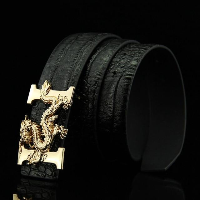 KAWEIDA 2018 Designer Belts Men High Quality Smooth Buckle Leather Waist Belt PU Luxury Leather Chinese Dragon Ceinture Homme Fashion & Designs Men's Belt Men's Fashion