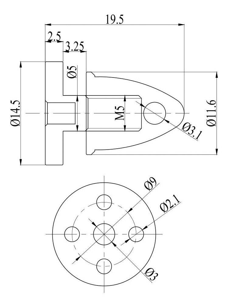 Gartt Ml2206 Series Rc Motor Propeller Prop Cap Nut Adapter Cw